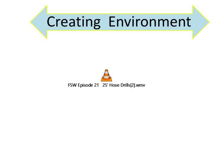 Creating  Environment