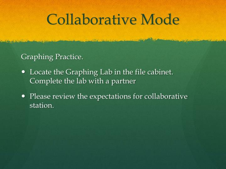 Collaborative Mode