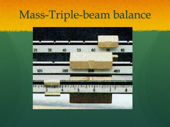Mass-Triple-beam balance