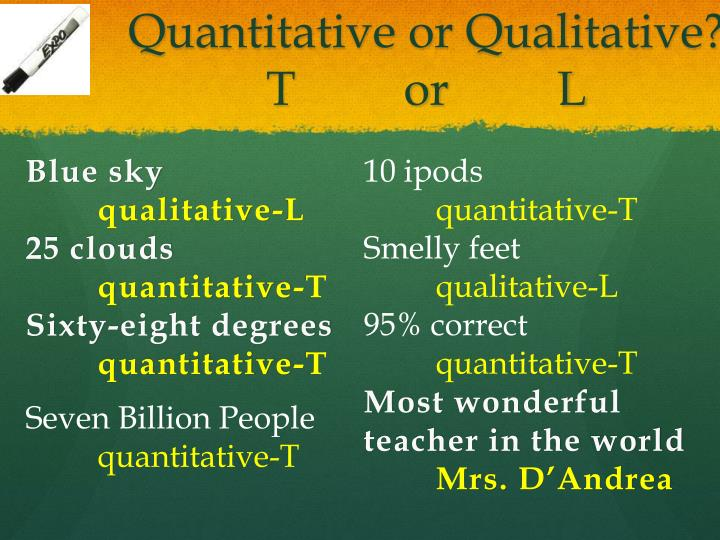Quantitative or Qualitative?