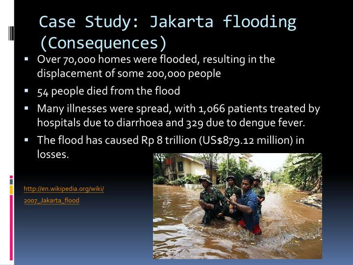 Case Study: Jakarta flooding (Consequences)