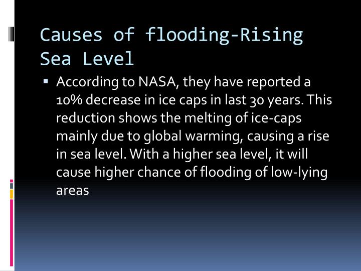Causes of flooding-Rising Sea Level