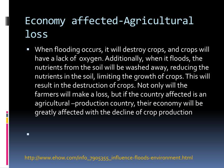Economy affected-Agricultural loss
