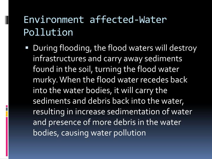 Environment affected-Water Pollution