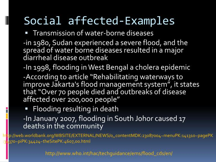 Social affected-Examples