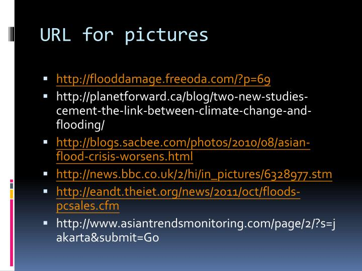 URL for pictures
