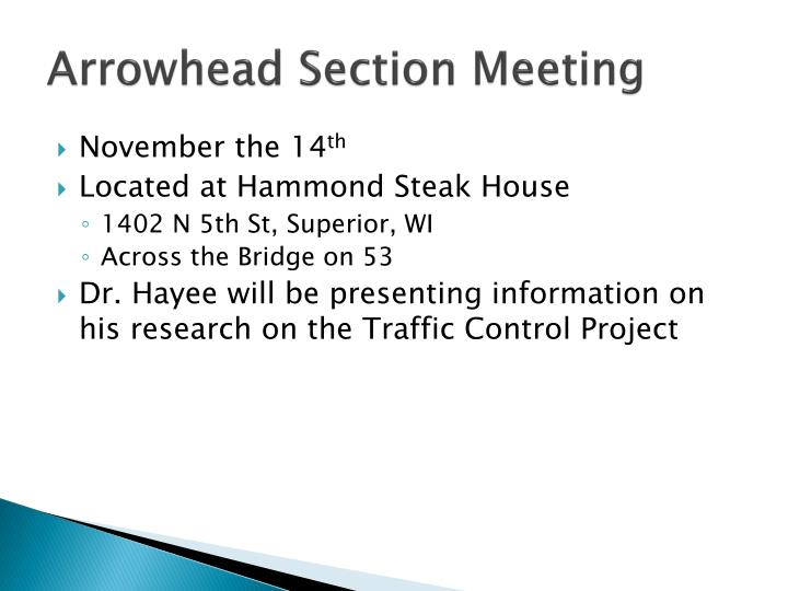 Arrowhead Section Meeting