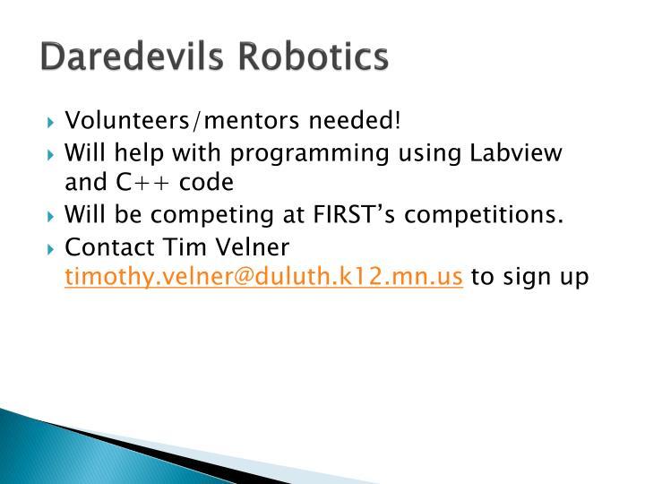 Daredevils Robotics