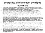 emergence of the modern civil rights movement1