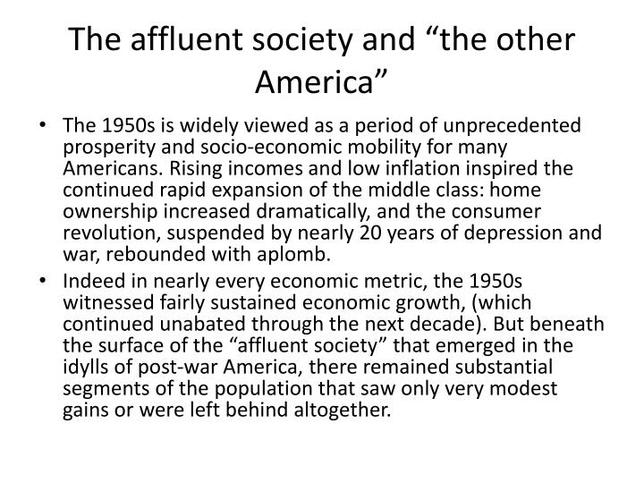"The affluent society and ""the other America"""
