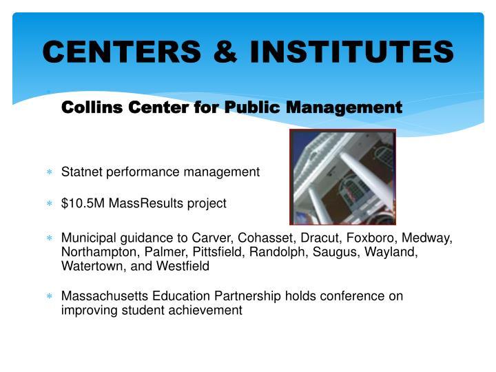 CENTERS & INSTITUTES