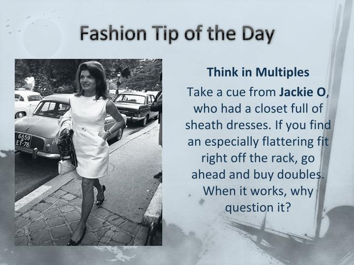 Fashion Tip of the Day