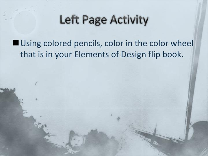 Left Page Activity