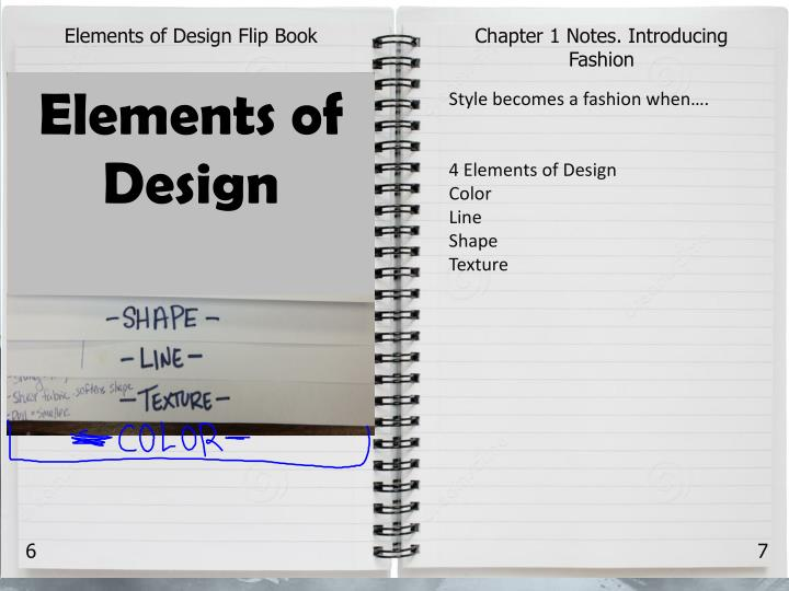 Elements of Design Flip Book