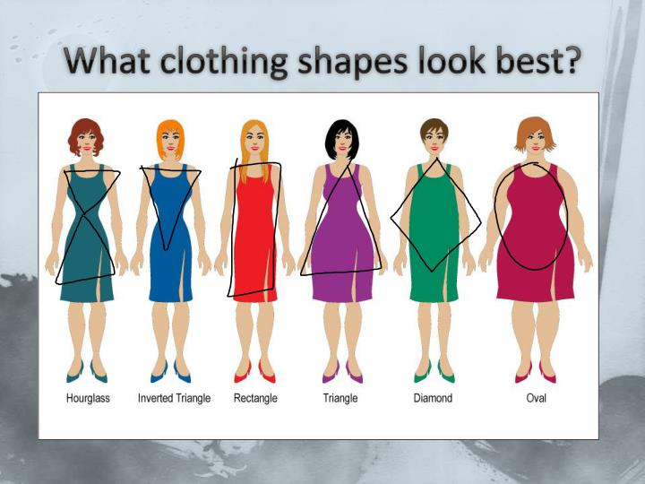 What clothing shapes look best?