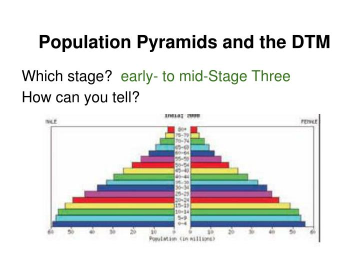 Population Pyramids and the DTM