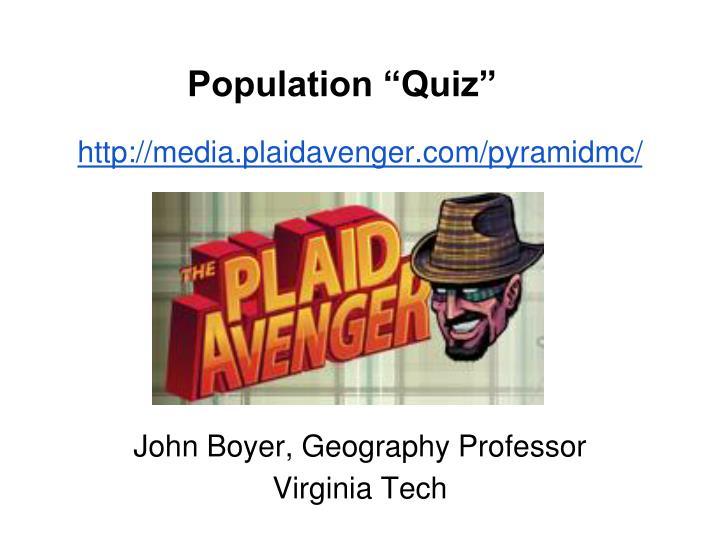 "Population ""Quiz"""