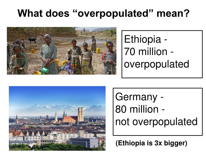 "What does ""overpopulated"" mean?"