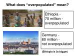what does overpopulated mean