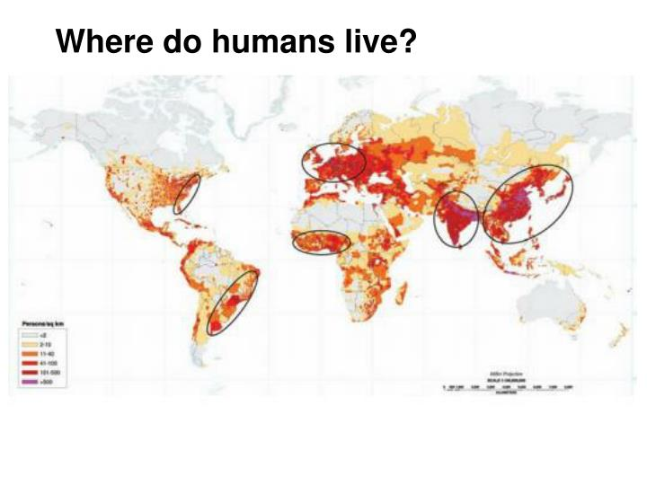 Where do humans live?