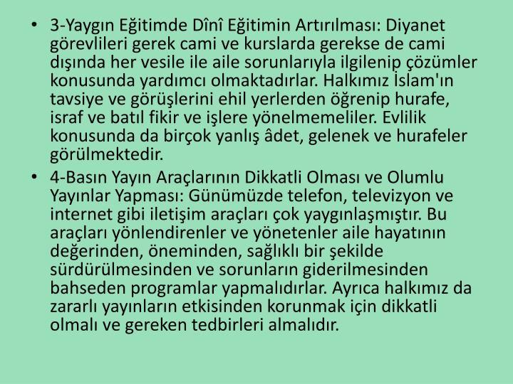 3-Yaygn Eitimde