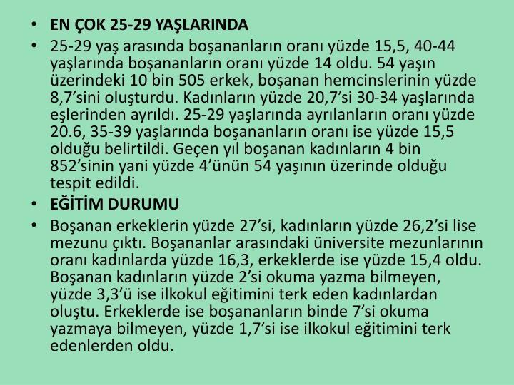 EN OK 25-29 YALARINDA