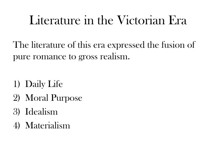 Literature in the Victorian Era