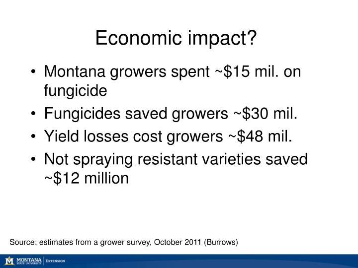 Economic impact?