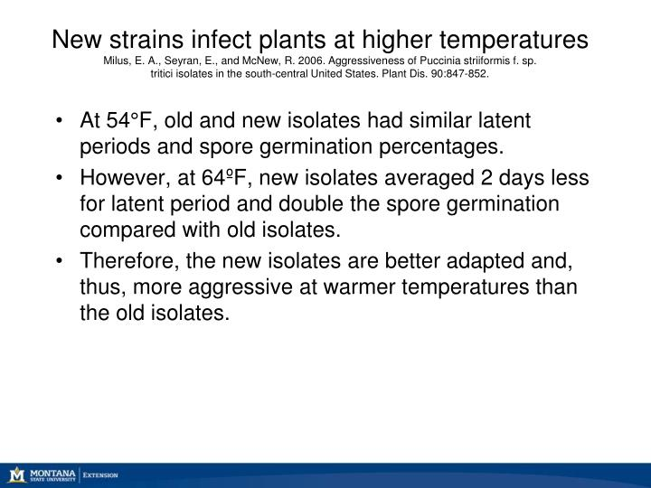 New strains infect plants at higher temperatures