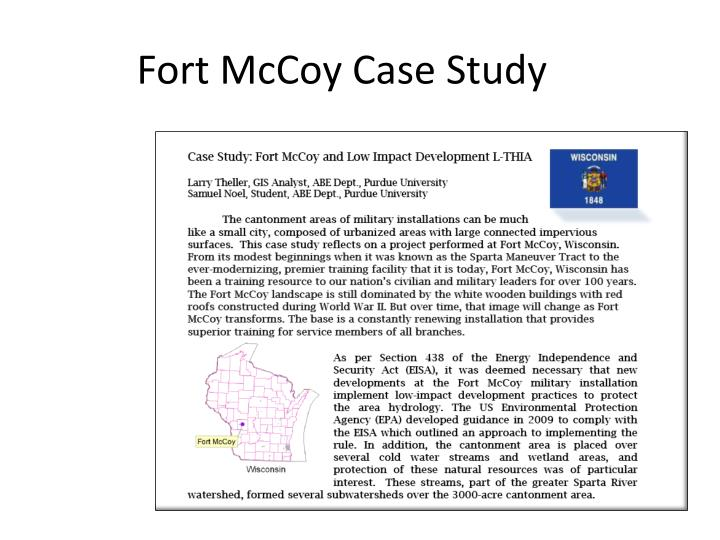 Fort McCoy Case Study