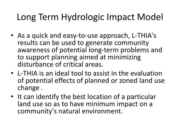Long Term Hydrologic Impact Model