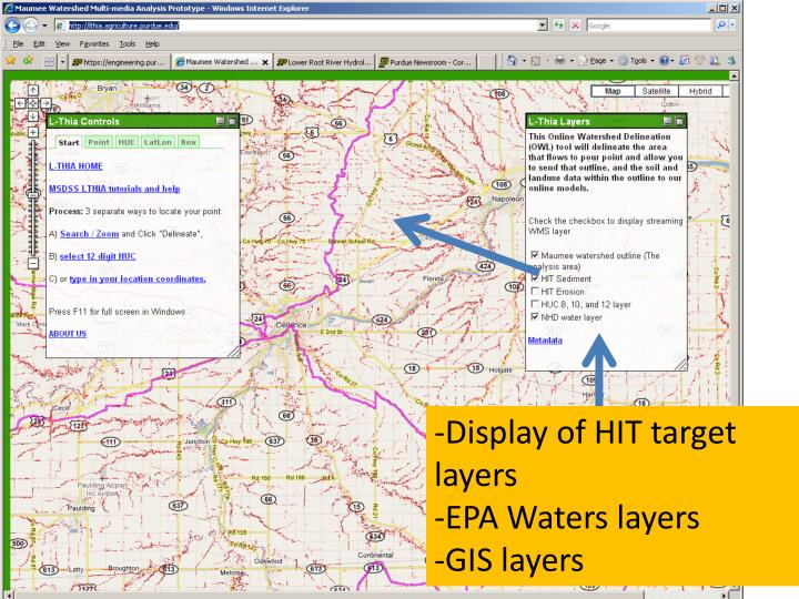 -Display of HIT target layers