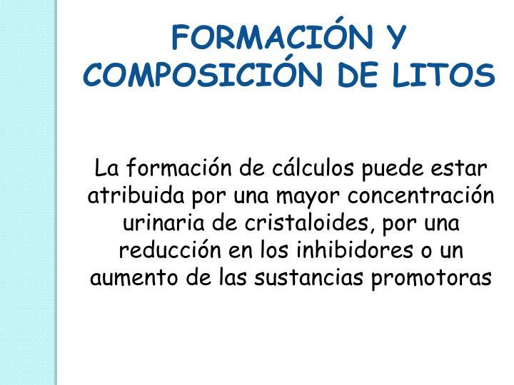 FORMACIÓN Y COMPOSICIÓN DE LITOS