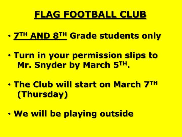 FLAG FOOTBALL CLUB