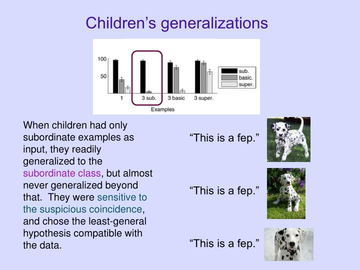 Children's generalizations