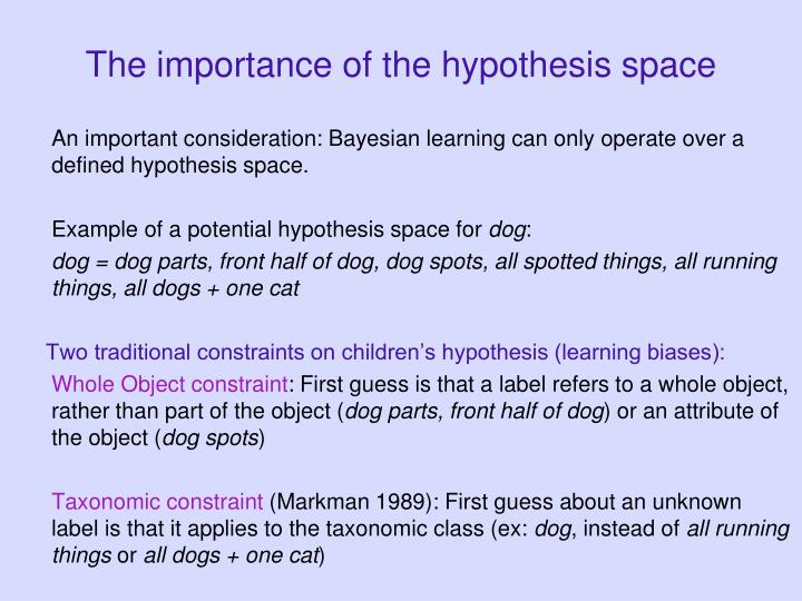 The importance of the hypothesis space