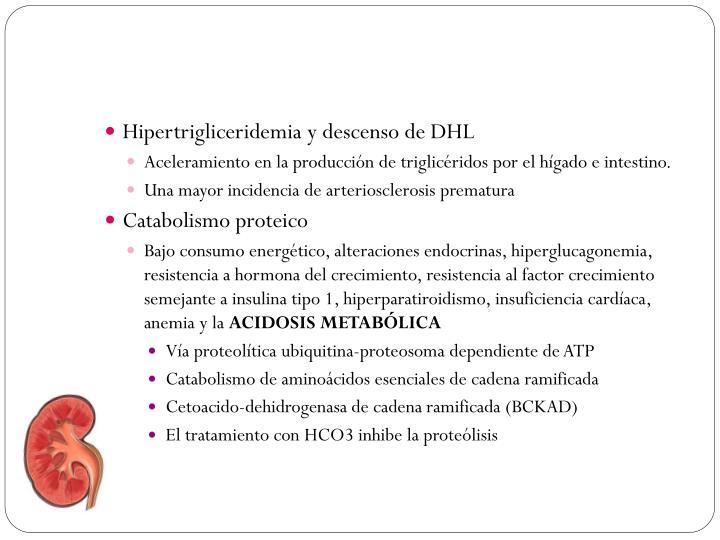 Hipertrigliceridemia y descenso de DHL