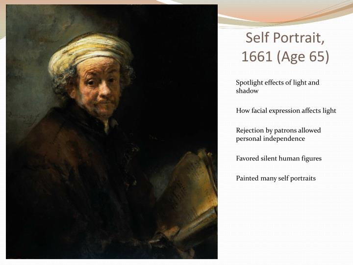Self portrait 1661 age 65