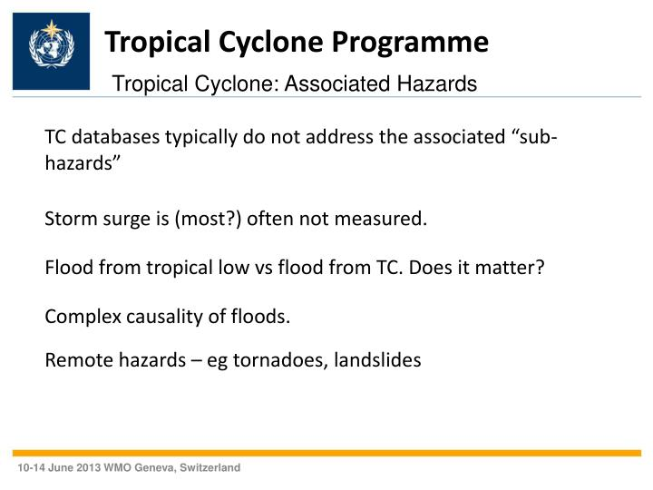 Tropical Cyclone Programme