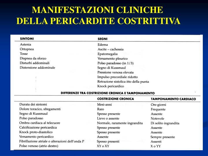MANIFESTAZIONI CLINICHE