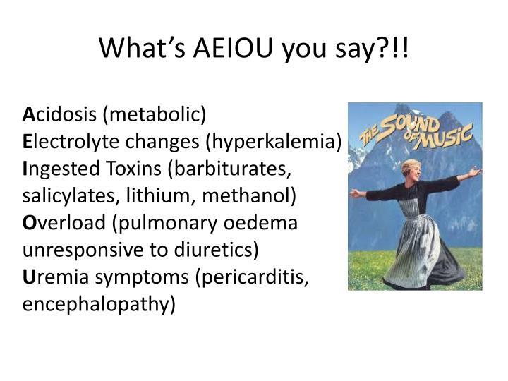 What's AEIOU you say?!!