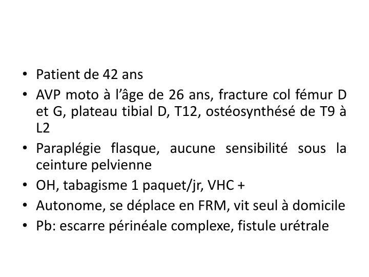 Patient de 42 ans