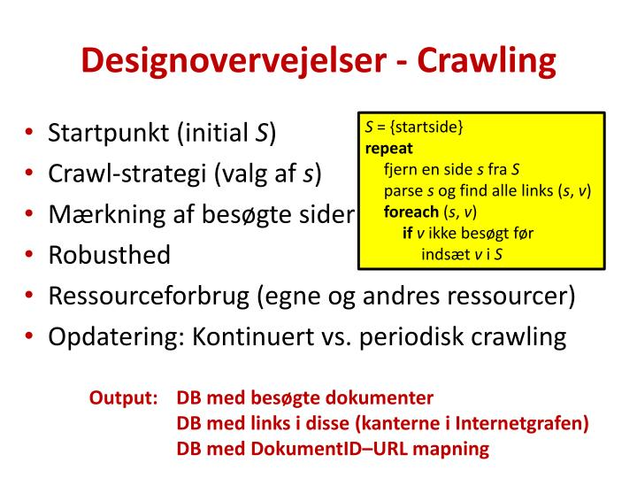 Designovervejelser