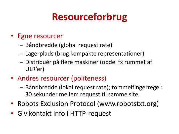 Resourceforbrug