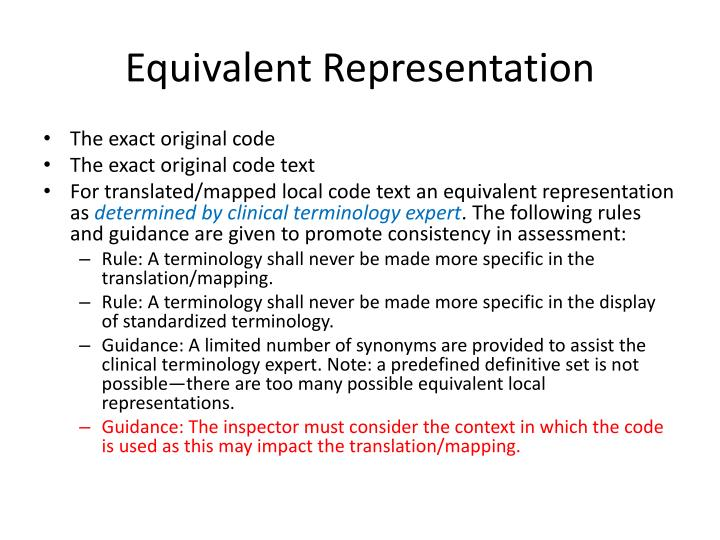 Equivalent Representation