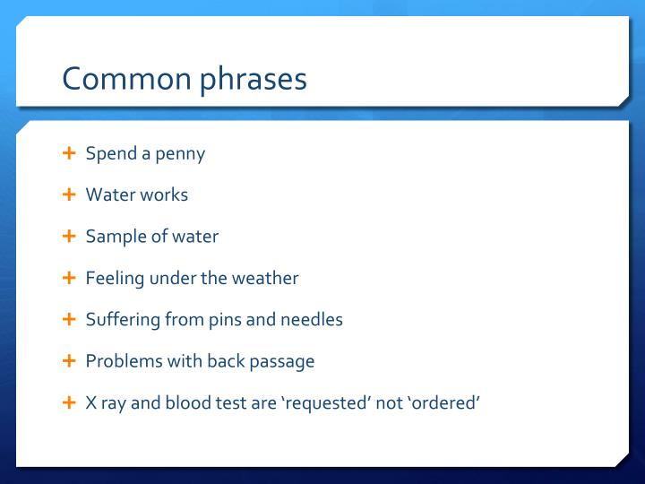 Common phrases