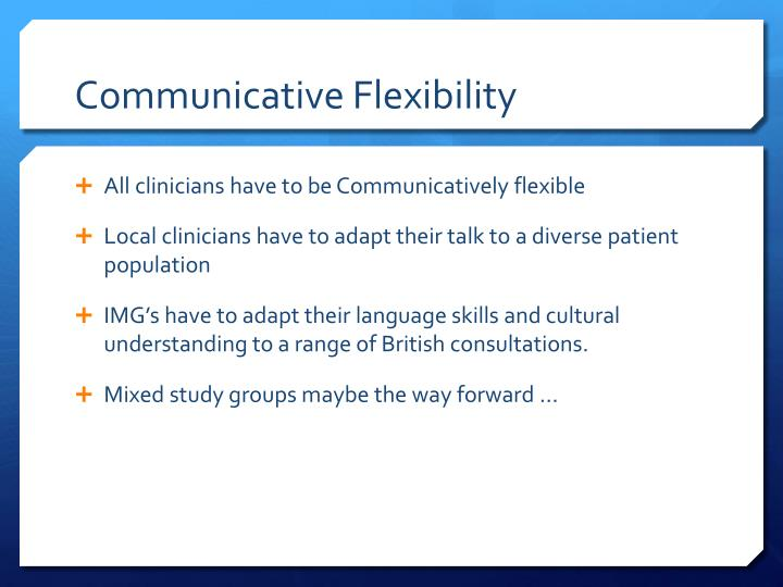 Communicative Flexibility