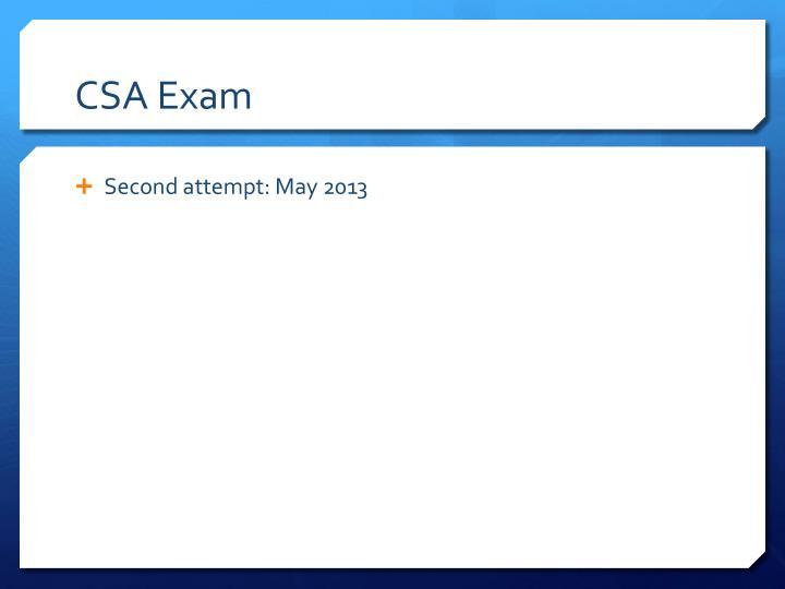 CSA Exam