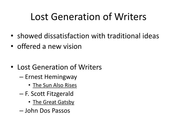 Lost Generation of Writers