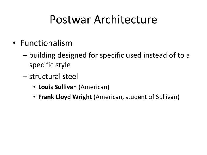 Postwar Architecture